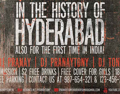 The Rock Show Hyderabad-Grunge Flyer-Pranaytony!
