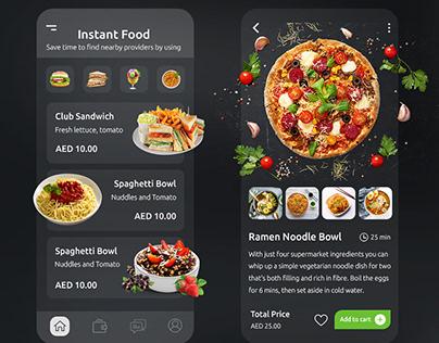 Food Odering App Design
