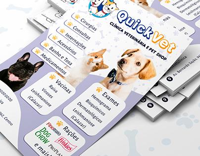 Flyer - QuickVet Clínica Veterinária e Pet Shop