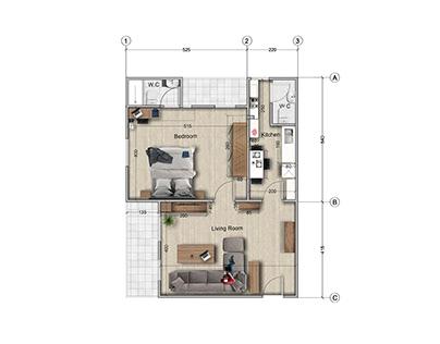 Bedroom Apartment Design