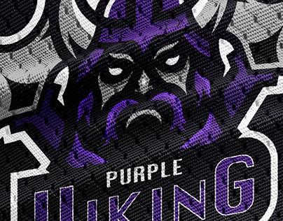 Purple Viking Esport Mascot Logo