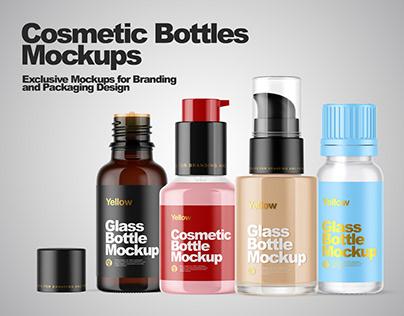 Cosmetic Bottles Mockups