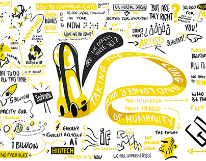 Live Zoom Conference Illustrations - Existential Risk