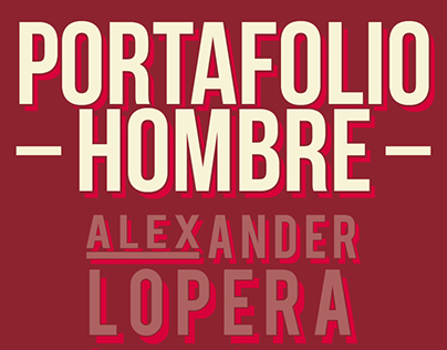 Portafolio Hombre Alex Lopera