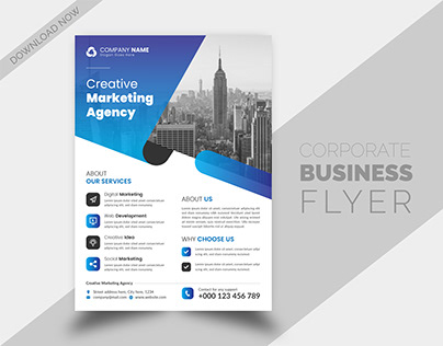 Corporate Business Agency Product Flyer Brochure Design