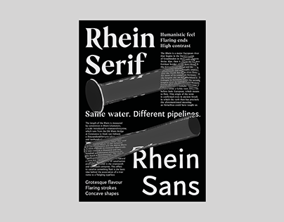 Rhein Typefaces → Poster