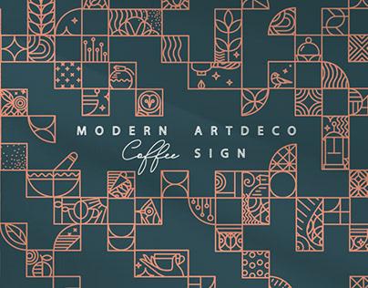 Modern Art Deco Coffee Signs