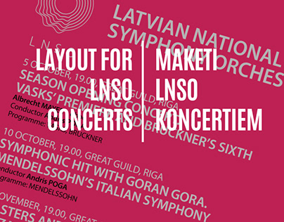 Layouts for LNSO concerts