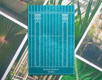 Risograph Postcards Botanic Gardens Dublin