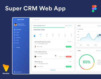 CRM Web App Designs