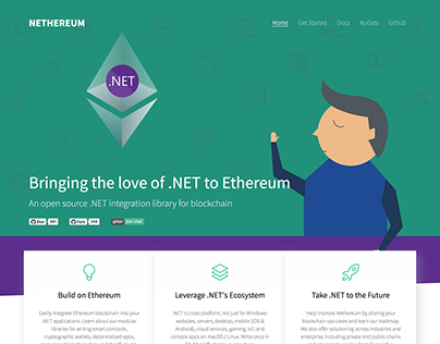 Nethereum.com Web Design & Dev with Hugo