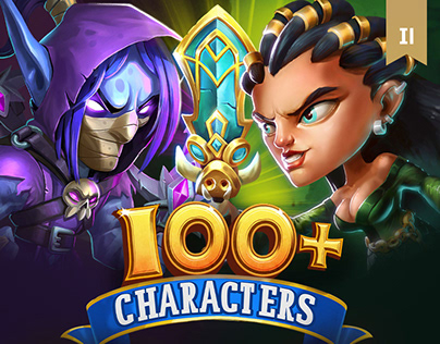 Hero Academy 2 - 100+ Game Character Illustrations