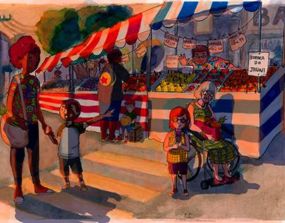 Ilustração de Feira