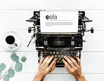 Photorealistic Typewriter Mockup