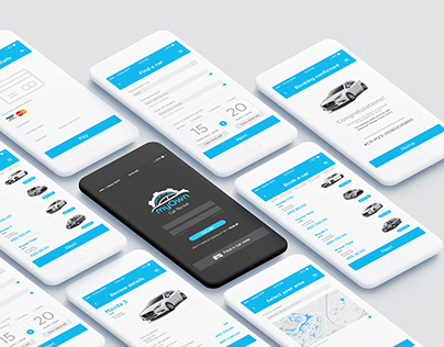 UI Design Kit | Rent A Car Company