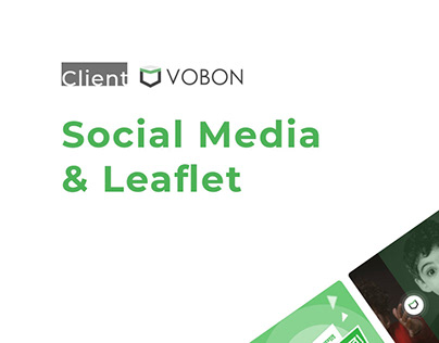 Social Media Contents & Leaflet for VOBON
