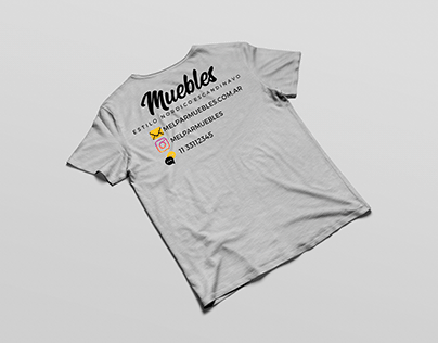 "t-shirt design for a furniture company ""MelPar muebles"""