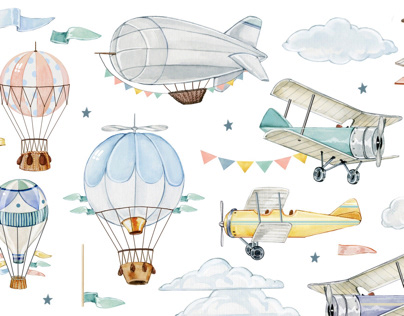 A lot of planes, airships and balloons....