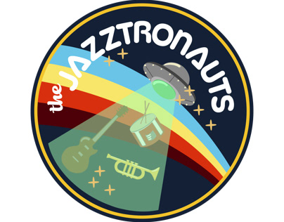 The Jazztronauts Logo Sticker