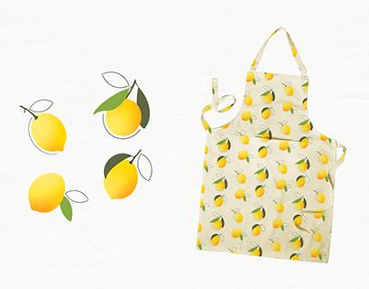 Lemon Pattern Kitchenware