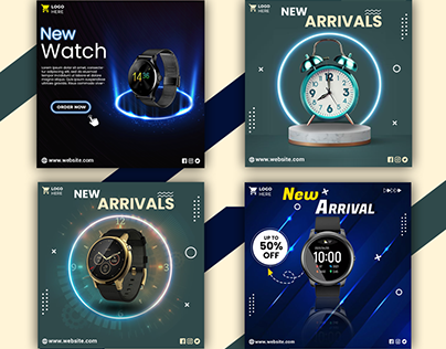 Social Media Banner || watch ads design ||