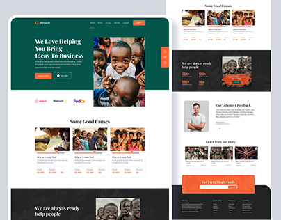 Charity – Donation Landing Page Free Figma and HTML