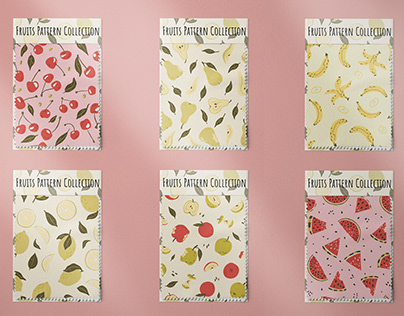 Fruits seamless pattern collection