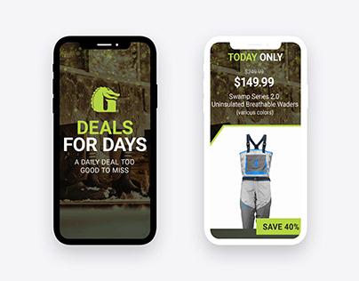 Gator Waders Deals for Days Digital Campaign 2020