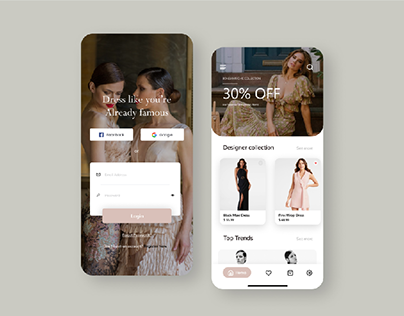 Fashion Apps UI