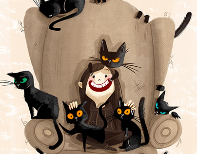 """My """"dark-flower"""" friend and her cats army"""