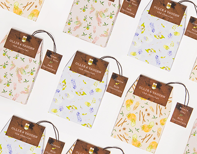 Tea Flavored Chocolate Packaging Design
