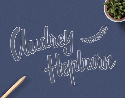 Audrey Hepburn Lettering