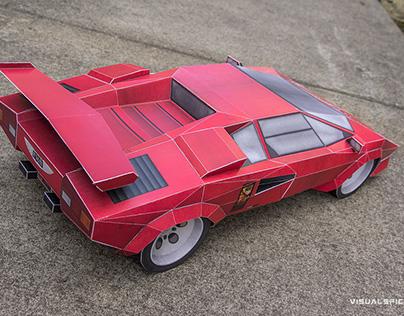 Printach Papercraft Sports Car Tribute