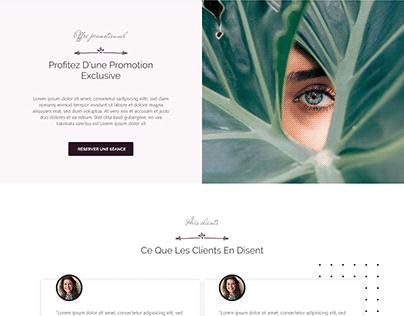 Showcase Website Desktop - Massage