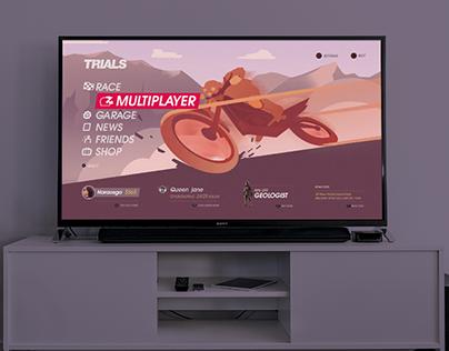 Trials racing game