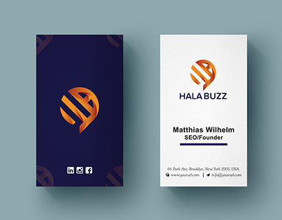 Vertical Business Card Template Design