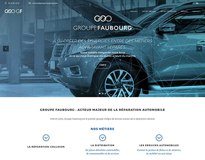 Groupe Faubourg Website