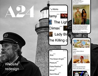 A24 - Website Redesign