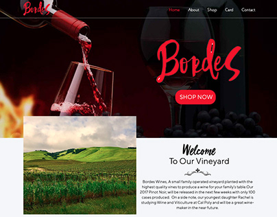 Bordes Wines Website Design