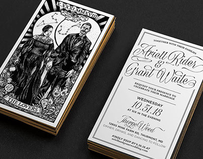 Tarot Wedding Invitation