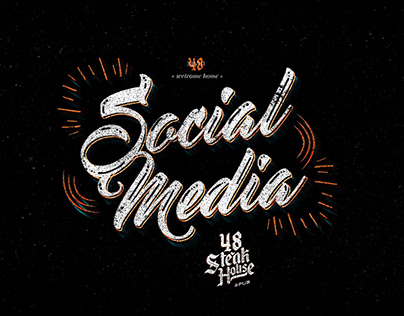 48 Steak House Pub - Social Media
