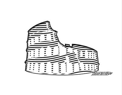 Colosseum Line Art by Muntadher Saleh