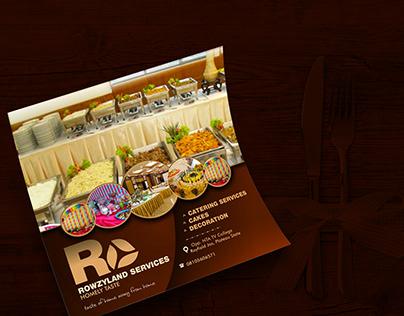 Flyer design for Rowzyland Restaurant