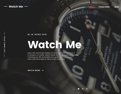 Watch Me – E-commerce PSD Theme