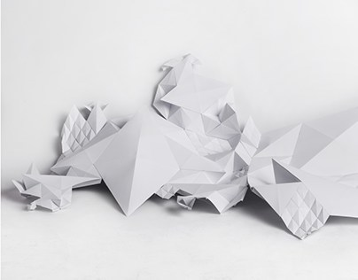 fractal | paper sculpture