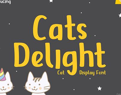 FREE Font   Cats Delight - Cat Display Font