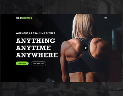 Get Strong - Landing Page