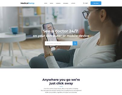 Homepage for online Medical Hemp Doctors Telehealth