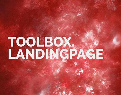 Toolbox. - Landingpage Design