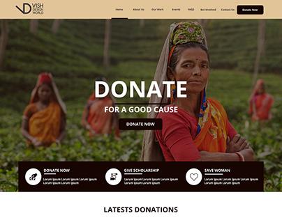 Web Design Option for Woman NGO